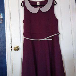 Modcloth Pink Owl Dress Purple with Grey Size 2X